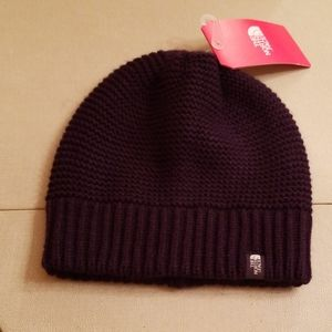 NWT North Face  purple purrl knit hat